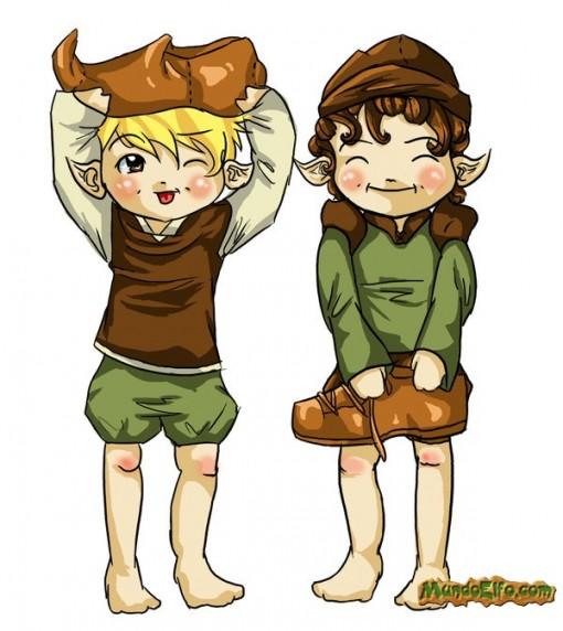 Dibujo pareja de Elfos