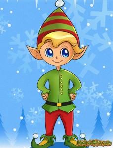 Dibujo de Elfo de la Navidad